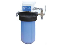 Automatic membranes flushing filter